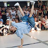 Breakdance in Bautzen.  Foto: Marco Prosch