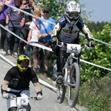 Four Cross competition at the 2009 Dirtmasters Festival in Winterberg, Germany.  Copyright: Shannon Maguire