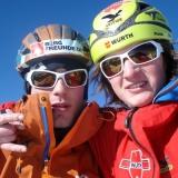 Michi Wohlleben und <b>Fritz Miller</b> am Gipfel. Foto: Privat - 5394_60x72