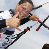 Christine B�nniger beim Kitesurf World Cup 2012 in St. Peter-Ording.  Foto: Philipp Szyza