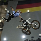 Thomas Pages gewinnt die Red Bull X-Fighters in M�nchen.  Foto: J�rg Mitterer, Red Bull Content Pool