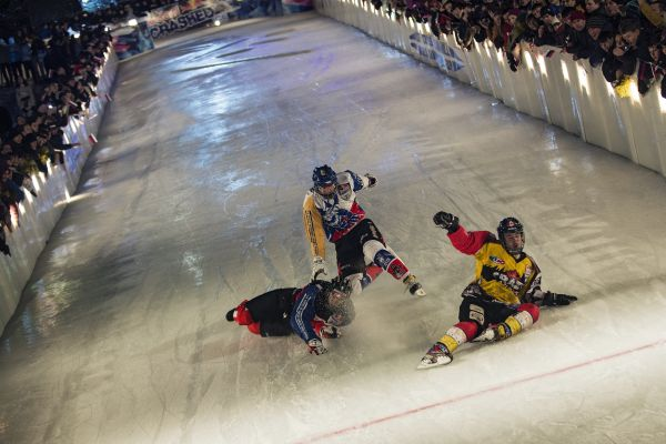 Red Bull Crashed Ice Moskau 2014. Foto: Joerg Mitter/Red Bull Content Pool