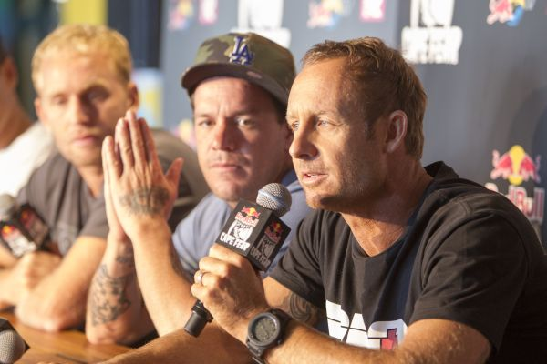Mark Matthews bei der Pressekonferenz zum Red Bull Cape Fear 2014. Foto: William Morris / Red Bull Content Pool