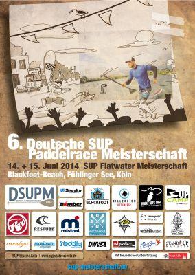 6. Deutsche SUP Flatwater Meisterschaft 2014. Foto: Veranstalter